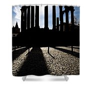 Roman Temple Silhouette Shower Curtain
