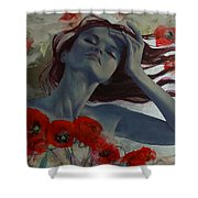 Romance Echo Shower Curtain by Dorina  Costras