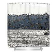 Romance II On Liberty Bay Shower Curtain