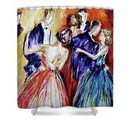 Dance In Romance Shower Curtain