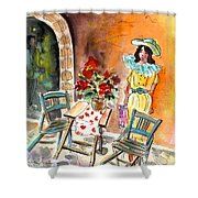 Romance In Siracusa Shower Curtain