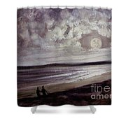 Romance Under The Moon Shower Curtain