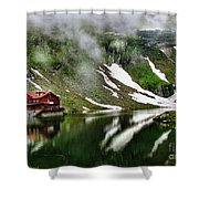 Romanian Glacier Lake Shower Curtain