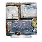 Romans 12 21 Shower Curtain
