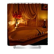 Romantic Bubble Bath Shower Curtain by Kay Novy