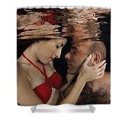 Romantic Couple Underwater Shower Curtain