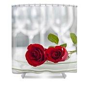 Romantic Dinner Setting Shower Curtain by Elena Elisseeva