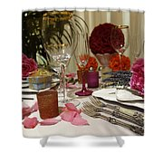Romantic Dinner Setting Shower Curtain