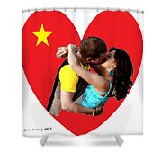Romantic Kiss Shower Curtain
