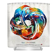 Romantic Love Art - The Love Knot - By Sharon Cummings Shower Curtain