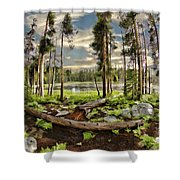 Romantic Meadow Shower Curtain