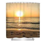 Romantic Ocean Swim At Sunrise Shower Curtain