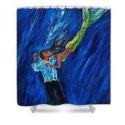 Romantic Rescue Shower Curtain by Leslie Allen
