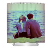 Romantic Seaside Moment Shower Curtain