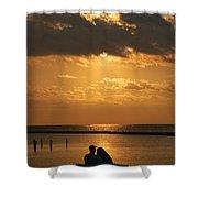 Romantic Sunrise Shower Curtain
