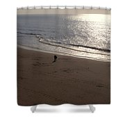 romantic sunset in Holland Shower Curtain