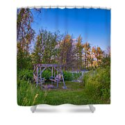 Romantic View By The Methow River Shower Curtain