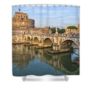 Rome Castel Sant Angelo 01 Shower Curtain