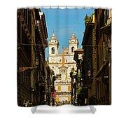 Rome, Italy. View Along Via Dei Shower Curtain
