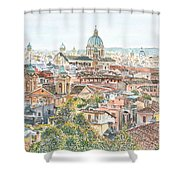 Rome Overview From The Borghese Gardens Shower Curtain by Anthony Butera