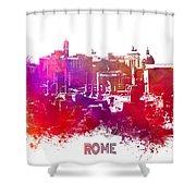 Rome Skyline Shower Curtain