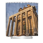 Rome Temple Of Antoninus And Faustina 01 Shower Curtain