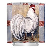 Romeo The Rooster Shower Curtain
