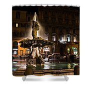 Rome's Fabulous Fountains - Fontana Del Tritone Shower Curtain