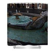 Rome's Fabulous Fountains - Fontana Della Barcaccia - Spanish Steps  Shower Curtain
