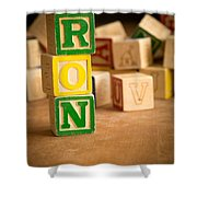 Ron - Alphabet Blocks Shower Curtain