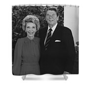 Ronald And Nancy Reagan Shower Curtain