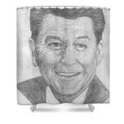 Ronald Reagan Shower Curtain