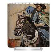 Ronald Reagan Portrait 3 Shower Curtain by Corporate Art Task Force