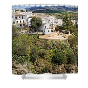 Ronda Houses On A Rock Shower Curtain
