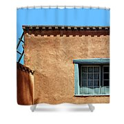 Roof Corner With Ladder And Window Shower Curtain