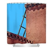 Roof Corner With Ladder Shower Curtain