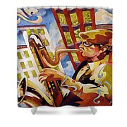 Rooftop Baritone Shower Curtain