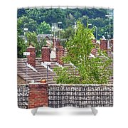 Rooftop Communication Shower Curtain