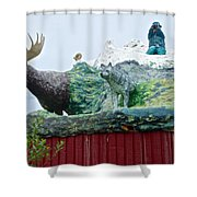 Rooftop Landmark Feature Of Haines Junction-yk Shower Curtain