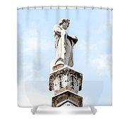 Rooftop Male Statue Duomo Di Milano Italia Shower Curtain