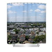 Jamaica Ny Rooftop Panorama Shower Curtain