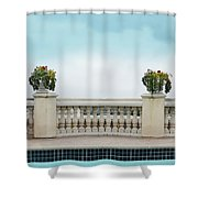Rooftop Pool Shower Curtain
