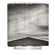 Rooftop Sky Shower Curtain by Darryl Dalton