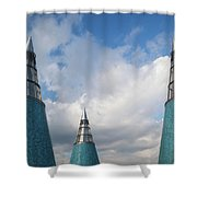Rooftop Towers At Museum Of Technology Shower Curtain
