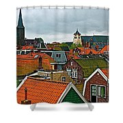 Rooftops From Our Host's Apartment In Enkhuizen-netherlands Shower Curtain