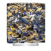 Rooftops In India Shower Curtain