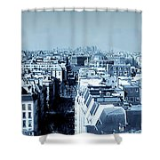 Rooftops Of Paris - Selenium Treatment Shower Curtain