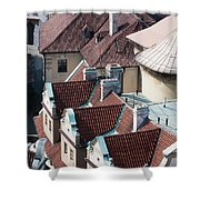 Rooftops Of Prague In Czechia Europe Shower Curtain