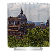 Rooftops Of Rome Shower Curtain
