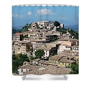 Rooftops Of The Italian City Shower Curtain